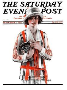 """""""Woman and Trophy,"""" Saturday Evening Post Cover, September 1, 1923 by Pearl L. Hill"""