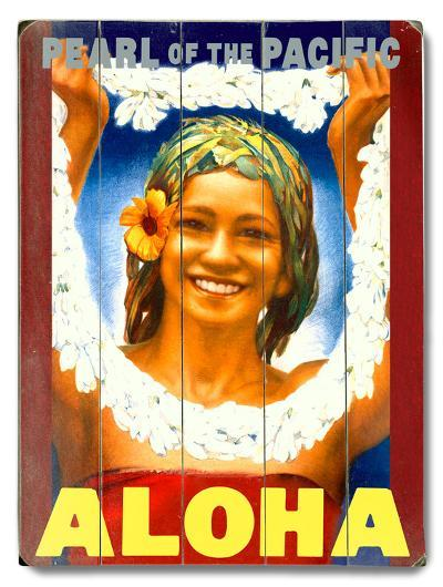 Pearl of the Pacific--Wood Sign
