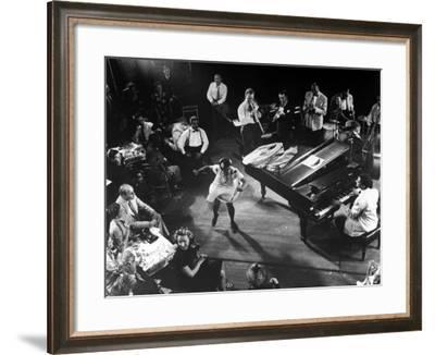 Pearl Primus Performing to Honeysuckle Rose at Gjon Mili's Studio-Gjon Mili-Framed Premium Photographic Print