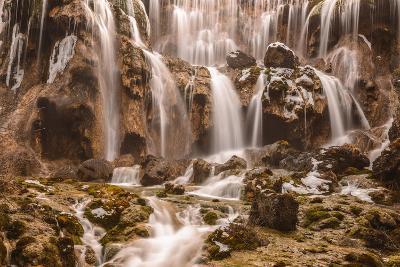 Pearl Shoals Waterfall in Jiuzhaigou National Park, China-John Crux-Photographic Print