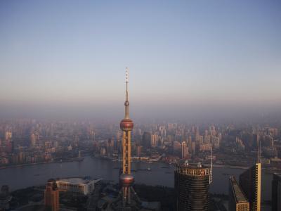 Pearl Tower at Dawn, Shanghai, China, Asia--Photographic Print