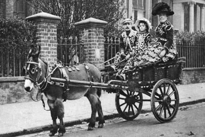 Pearly Family in their Donkey-Drawn Moke, London, 1926-1927-McLeish-Giclee Print