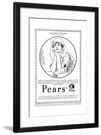 Pears' Soap Advertisement, Red Cross Nurse, WW1--Framed Giclee Print