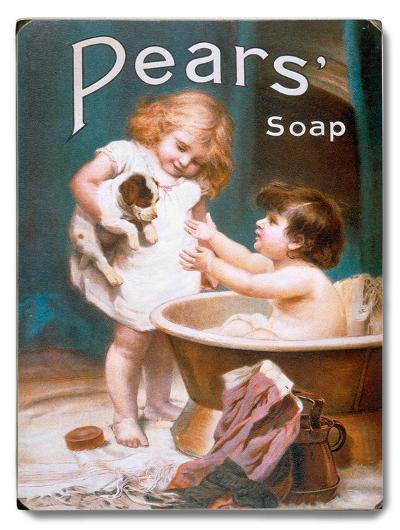 Pears Soap Children's Puppy--Wood Sign