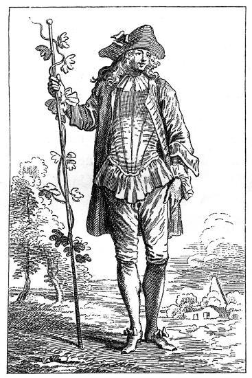 Peasant Costume-Jean-Antoine Watteau-Giclee Print