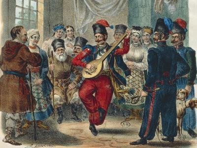 Peasant Festival, Ukraine, 1841, Russia 19th Century--Giclee Print