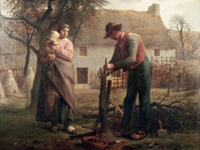 Peasant Grafting a Tree-Jean-Fran?ois Millet-Premium Giclee Print