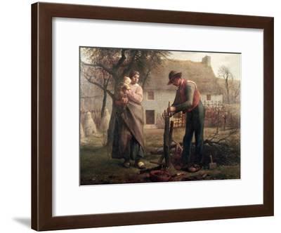 Peasant Grafting a Tree-Jean-François Millet-Framed Giclee Print