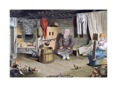 Peasant House, Russia, 1821-AC Houbigaot-Giclee Print