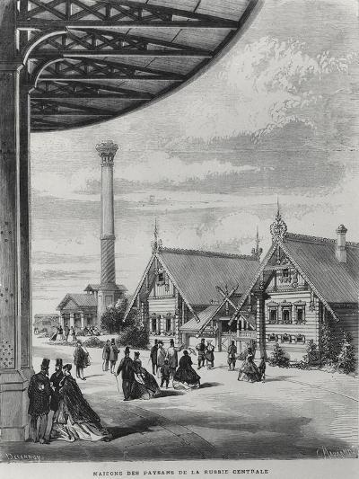 Peasant Houses at the Russian Pavilion at the Exposition Universelle of 1867--Giclee Print