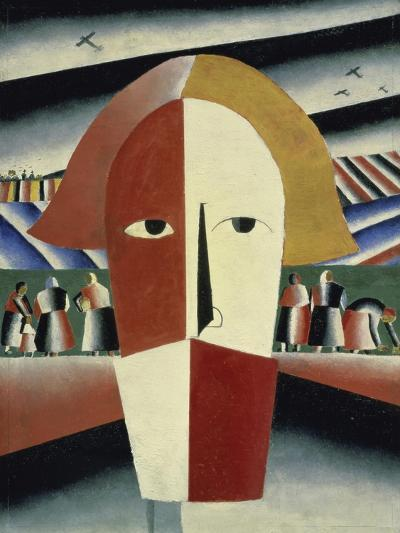 Peasant's Head, c.1928-1932-Kasimir Malevich-Giclee Print
