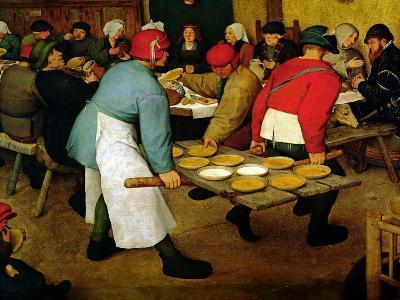 Peasant Wedding, 1568 (Detail)-Pieter Bruegel the Elder-Giclee Print