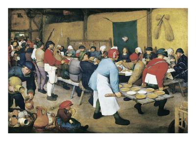 Peasant Wedding (Bauernhochzeit)-Pieter Bruegel the Elder-Art Print