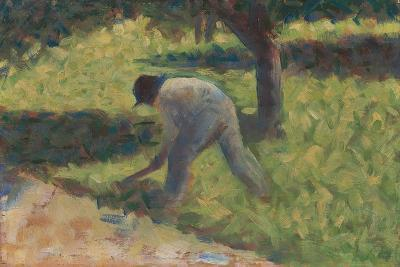 Peasant with a Hoe, c.1882-Georges Pierre Seurat-Giclee Print