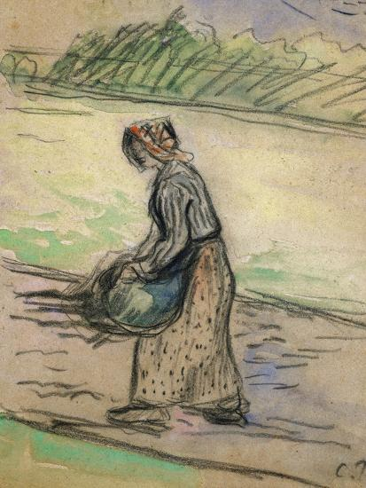 Peasant with Firewood; Paysanne Aux Fagots-Camille Pissarro-Giclee Print