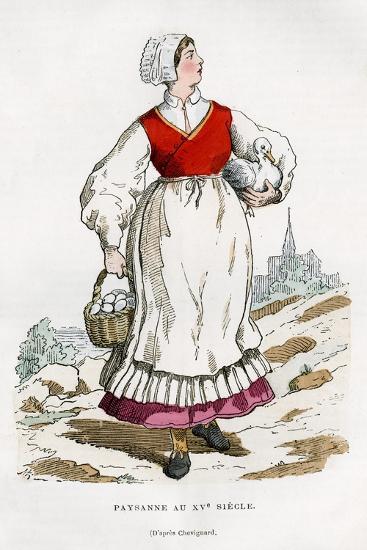 Peasant Woman, 15th Century (1882-188)-Chevignard Chevignard-Giclee Print