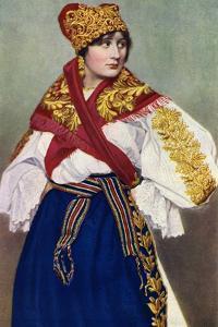 Peasant Woman in National Dress, Czechoslovakia, 1922