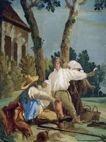 Peasants at Rest-Giandomenico Tiepolo-Giclee Print