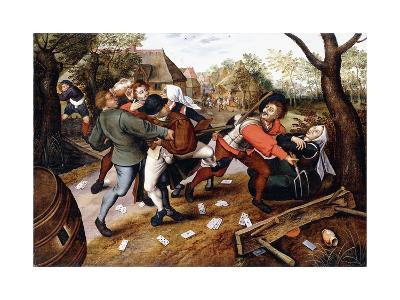 Peasants Brawling, 1619-Pieter Bruegel the Elder-Giclee Print