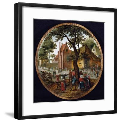 Peasants Dancing Round a Tree in a Village Street, 1625-Hendrik Avercamp-Framed Giclee Print