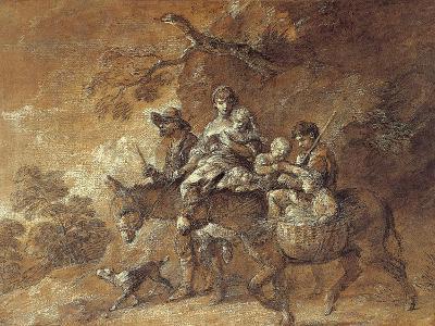 Peasants Going to Market, 1770-74-Thomas Gainsborough-Giclee Print