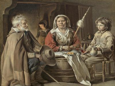 Peasants in an Interior-Mathieu Le Nain-Giclee Print