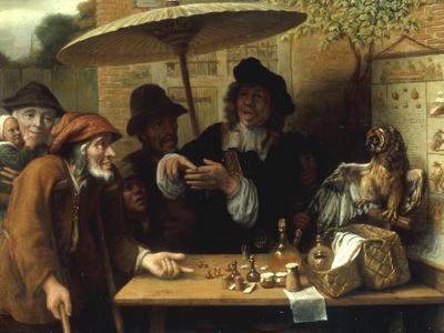 Peasants Listening to a Quack Doctor, 1668-Lambert Doomer-Giclee Print