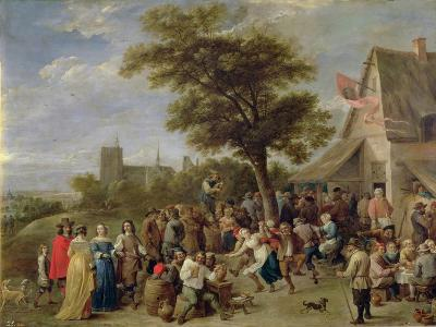 Peasants Merry-Making, c.1650-David Teniers the Younger-Giclee Print