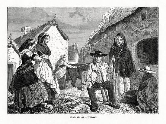 Peasants of Auvergne, France, 19th Century--Giclee Print
