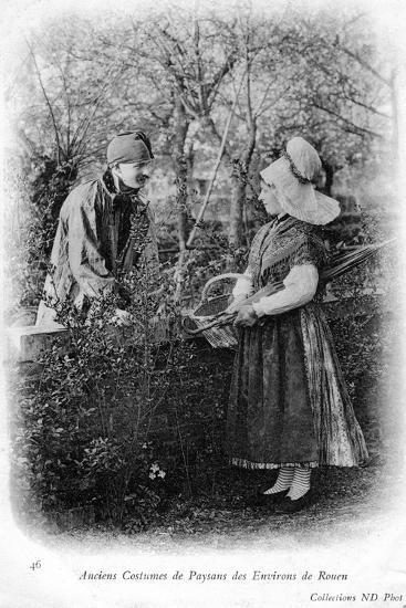 Peasants of Rouen, France, 1904--Giclee Print