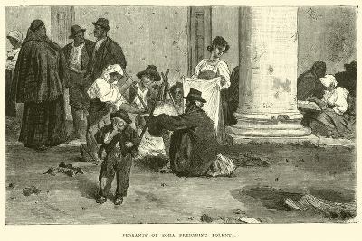 Peasants of Sora Preparing Polenta--Giclee Print