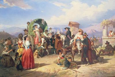 Peasants of the Campagna, 1860-Robert Alexander Hillingford-Giclee Print
