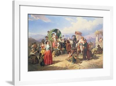 Peasants of the Campagna, 1860-Robert Alexander Hillingford-Framed Giclee Print