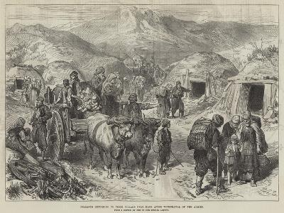 Peasants Returning to their Village Near Kars after Withdrawal of the Armies--Giclee Print