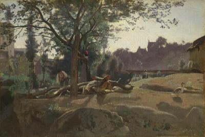 Peasants under the Trees at Dawn, C. 1843-Jean-Baptiste-Camille Corot-Giclee Print