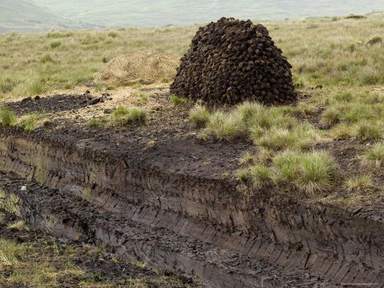 Peat Cutting, Connemara, County Galway, Connacht, Republic of Ireland-Gary Cook-Photographic Print