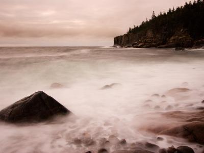 Pebble Beach along Ocean Drive, Acadia National Park, Maine, USA-Joanne Wells-Photographic Print