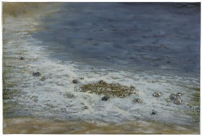 Pebbled Beach--Hand Painted Art