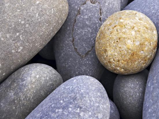 Pebbles in Sandymouth Beach, Cornwall, UK-Nadia Isakova-Photographic Print