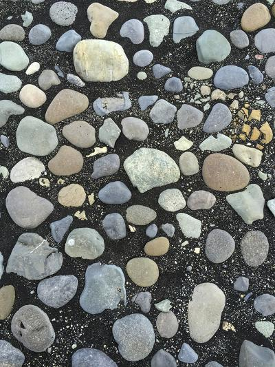 Pebbles on the Black Sand Beach Near Jokulsarlon Glacial Lagoon-Bill Marr-Photographic Print