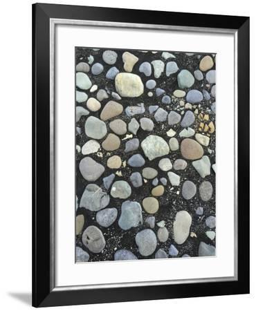 Pebbles on the Black Sand Beach Near Jokulsarlon Glacial Lagoon-Bill Marr-Framed Photographic Print