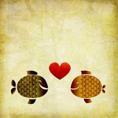 Peces Love Love- elimg-Art Print