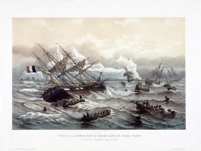 Peche a La Morue Sur Le Grand Banc De Terre-Neuve-Louis Le Breton-Giclee Print