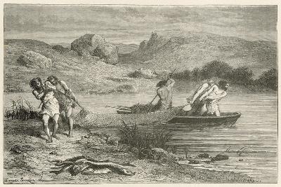 Pecheurs a L'Epoque De La Pierre Polie-Emile Antoine Bayard-Giclee Print