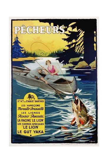Pecheurs Advertisement Poster--Giclee Print