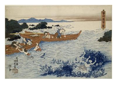 Pécheuses de coquillages dans la province d'Ise-Utagawa Kunisada-Giclee Print