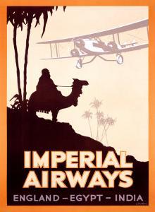 Imperial Airways, England-Egypt-India by Peckham