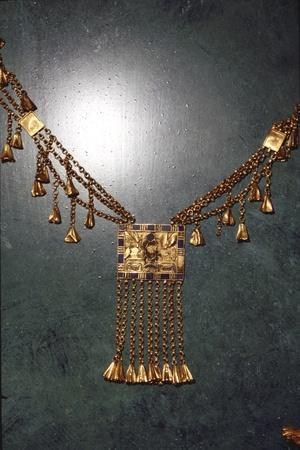Pectoral behalf of the pharaoh and high priest of Amon Pinedjem, c990BC-969BC-Unknown-Framed Giclee Print