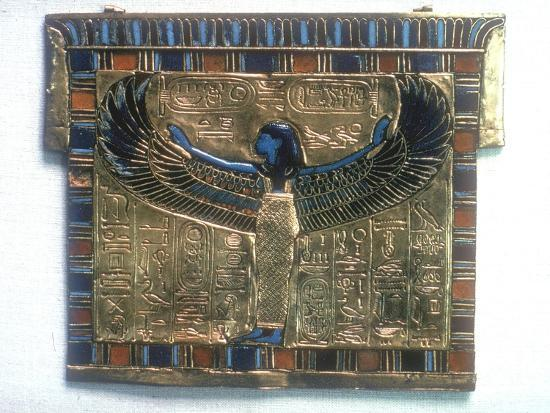 Pectoral from the tomb of Tutankhamun, c14th century BC. Artist: Unknown-Unknown-Giclee Print