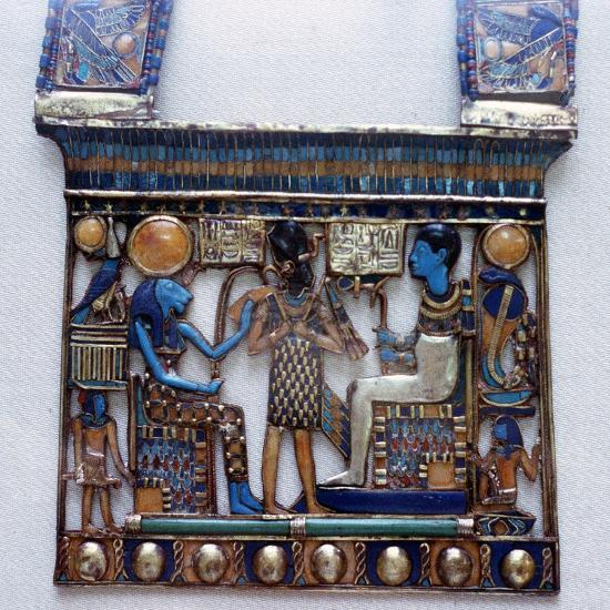 Pectoral jewel from the tomb of Tutankhamun, Ancient Egyptian, c1325 BC. Artist: Unknown-Unknown-Giclee Print